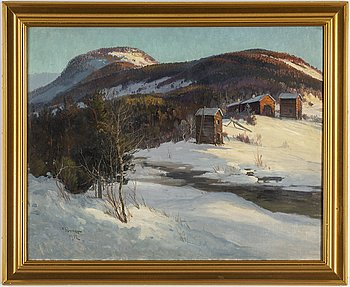 CARL BRANDT, oil on relined canvas, signed C. Brandt and dated 1912.