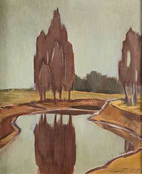 REINO HARSTI, oil on canvas, signed -58.