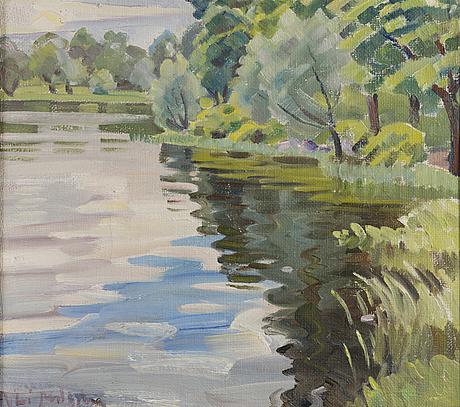 An ali munsterhjelm oil on canvas, signed.