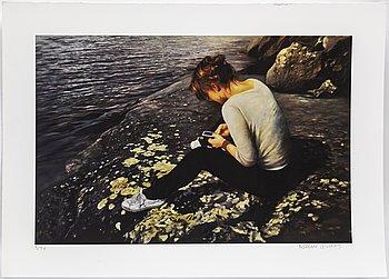 KARIN BROOS, gicléetryck, signerad Karin Broos och numrerad 3/90 med blyerts.