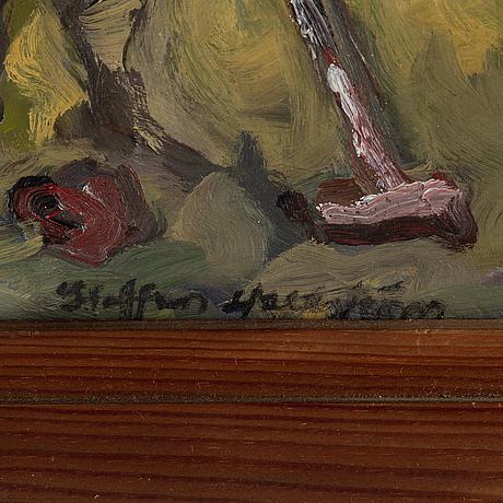 Staffan hallstrÖm, oil on canvas, signed staffan hallström