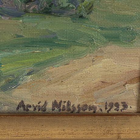 Arvid nilsson, oil on canvas, signed arvid nilsson and dated 1923