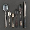 Gab, a part 'rosenholm' silver cutlery, stockholm, 1940 70s (68 pieces)