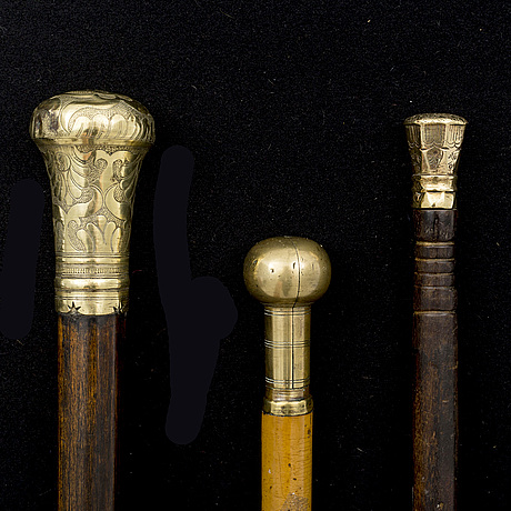 19th century canes, one dated 1755