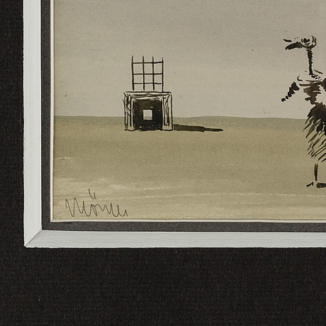 Stellan mÖrner, watercolor and ink, signed mörner