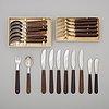 Kay bojesen, bestickservis, usc. 21 delar, rostfritt stål och palisander.