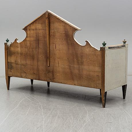 A first half of the 19th century folk art sofa, hälsingland, sweden.