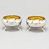 Saltkar, ett par, silver, möjligen baltikum 1800-tal.