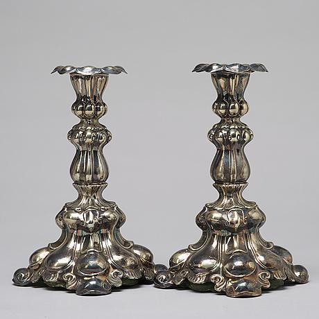 Pair of candlesticks, c g hallberg.