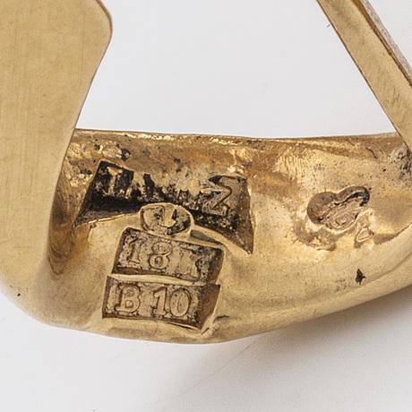 Bracelet 18k gold, curb link, 88,6 g, roland lantz stockholm 1976