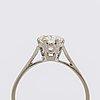 Diamond ring 18k vitguld m 1 brilliant cut diamond 1,04 ct engraved approx l m vs