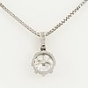 1,19 ct brilliant cut diamond necklace