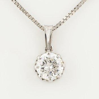 1,19 ct brilliant-cut diamond necklace.