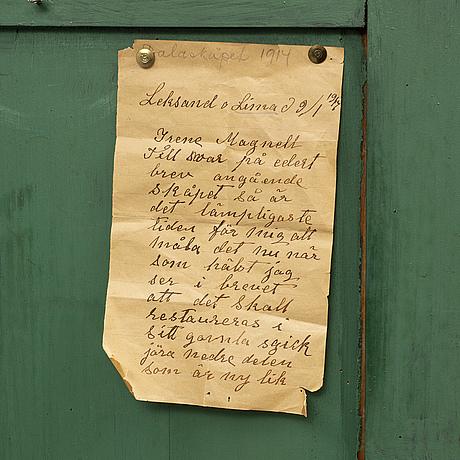 A swedish cupboard, circa 1800