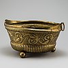 19th century brass flower pot