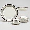 """Stig lindberg, kaffeservis, 17 delar, flintporslin. """"spisa ribb"""", från gustavsberg"""