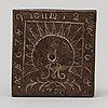 A swedish sundial dated 1780