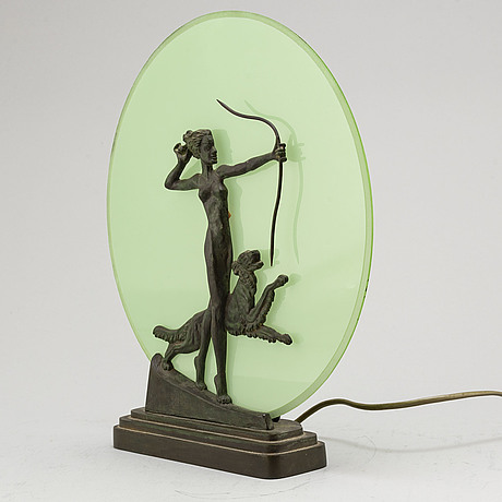 Bordslampa, art déco, 1930 tal