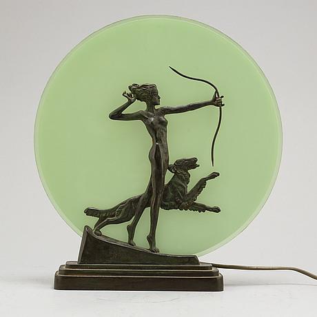 A 1930s art déco table light