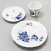 Royal copenhagen, a part 'blå blomst' dinner and coffee porcelain service, denmark. (54 pieces)