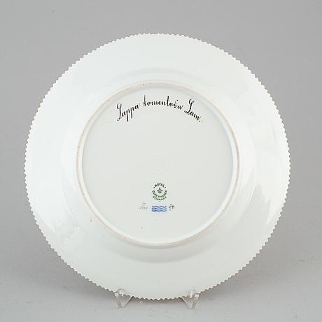 A royal copenhagen 'flora danica' dish, denmark, 20th century