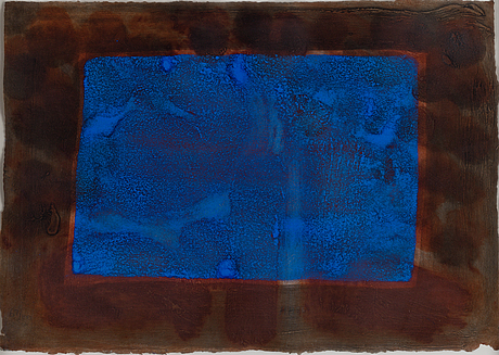 Howard hodgkin, lift-ground etching with aquatint and carborundum, signed 67/100. dated -86.