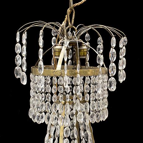 Ljuskrona, sengustaviansk, tidigt 1800-tal.