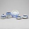 Royal copenhagen, and bing & grÖndal, a part 'blå måsen' coffee porcelain service, denmark (20 pieces)
