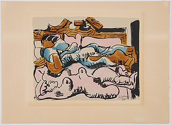 LE CORBUSIER, after, lithograph in colours, signed/dated 1935 in the print, numbered 56/250 in pencil.