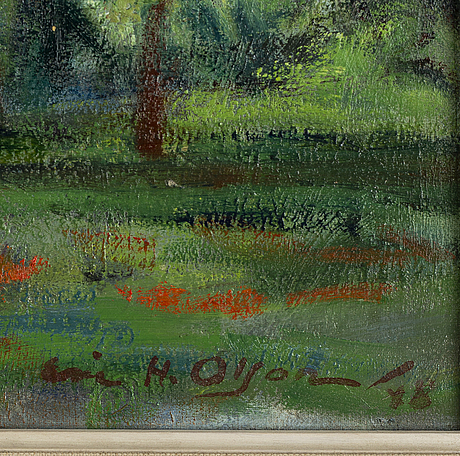 Eric h olson, oil on canvas, signed and dated  48