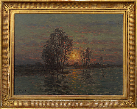 A painting by per ekstrÖm, signed