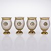Four russian glasses, alexander iii, second half of the 19th century