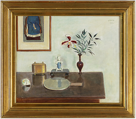 Einar jolin, oil on canvas, signed jolin and dated 1971