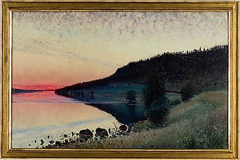 CARL JOHANSSON, oil on canvas, signed and dated -89.