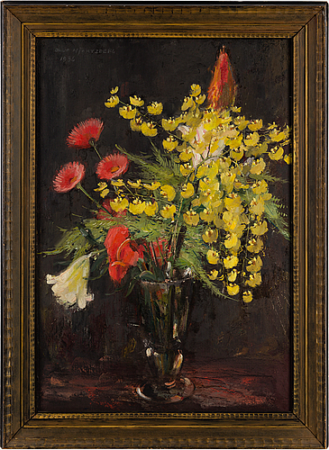 Olle hjortzberg, oil on panel, signed and dated 1936