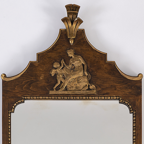 A mirror and console table, first half of the 20th century