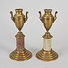 A pair of brass cassolettes no 60. skultuna early 20th century