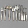 Sven arne gillgren, 78 psc silver cutlery, gab stockholm.