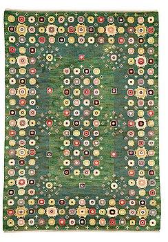 "184. Barbro Nilsson, A CARPET, ""Gröna rabatten"", knotted pile, ca 329,5 x 229,5  cm, signed AB MMF BN."