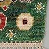 "Barbro nilsson, a carpet, ""gröna rabatten"", knotted pile, ca 329,5 x 229,5  cm, signed ab mmf bn."