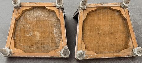 Stolar, ett par, av lars söderholm (mästare i stockholm 1789 1794), gustavianska