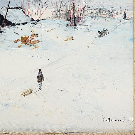 Olof hermelin, oil on copper, signed o. hermelin and dated 1901.