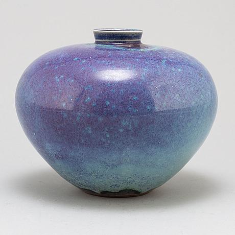Berndt friberg, a stoneware vase from gustavsberg studio