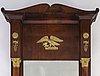 A swedish empire mirror and console table, 1830 40's