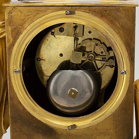 A french empire mantel clock, first quarter 19th century