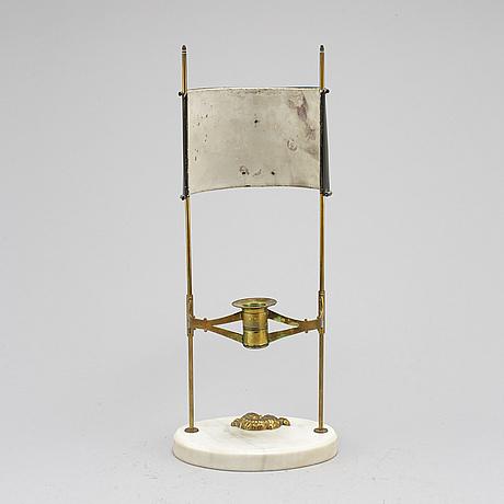 LÄslampa, för ett ljus, sengustaviansk stil, 1900 talets början