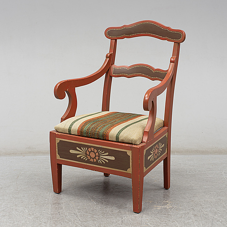 A 19th century armchair