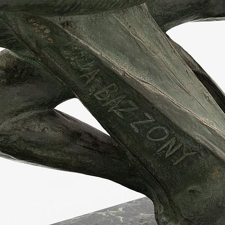 Alberto bazzoni, skulptur, brons. sign och stämpel