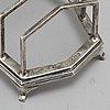 A mappin & webb, toastrack, silver, birmingham, 1928.