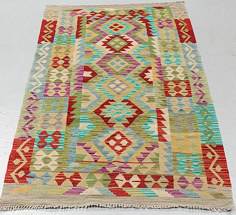 A carpet, kelim, ca 196 x 102 cm.